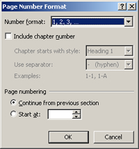 how to change page numbers restart word